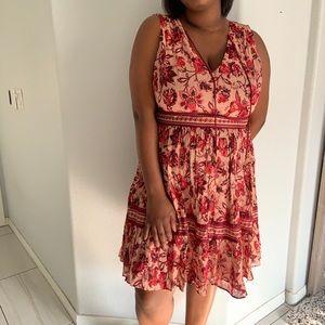 Kate Spade Sleeveless Paisley Blossom Dress